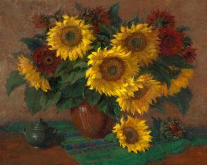 Mammoth and Crimon Sunflowers