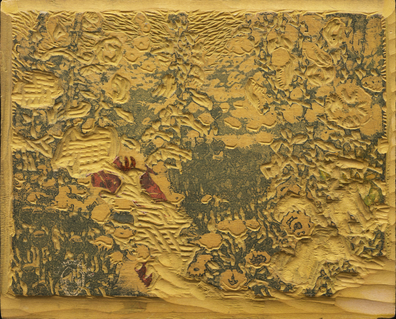 Woodblock for My Garden (Yellow)