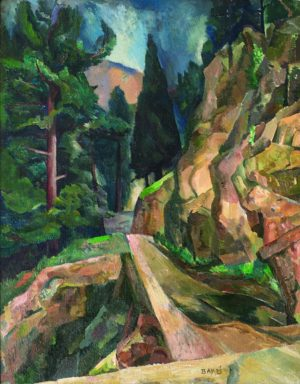 Pine Tree and Road, Santa Fe Canyon