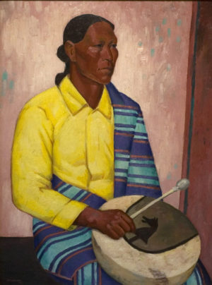 Portrait of Seated Indian with Drum