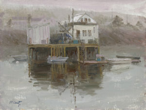 Harbor in Fog