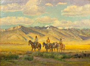 Indians Crossing the Mesa
