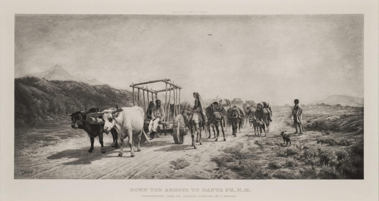 Down the Arroya to Santa Fe, N.M.