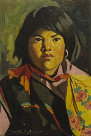 Pueblo Girl with Shawl