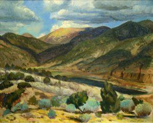 Sunlit Peak, Santa Fe Canyon