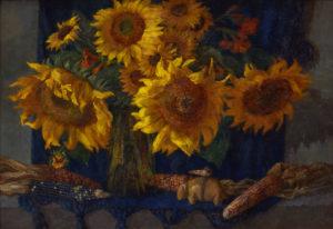 Sunflower and Zuni Fetish