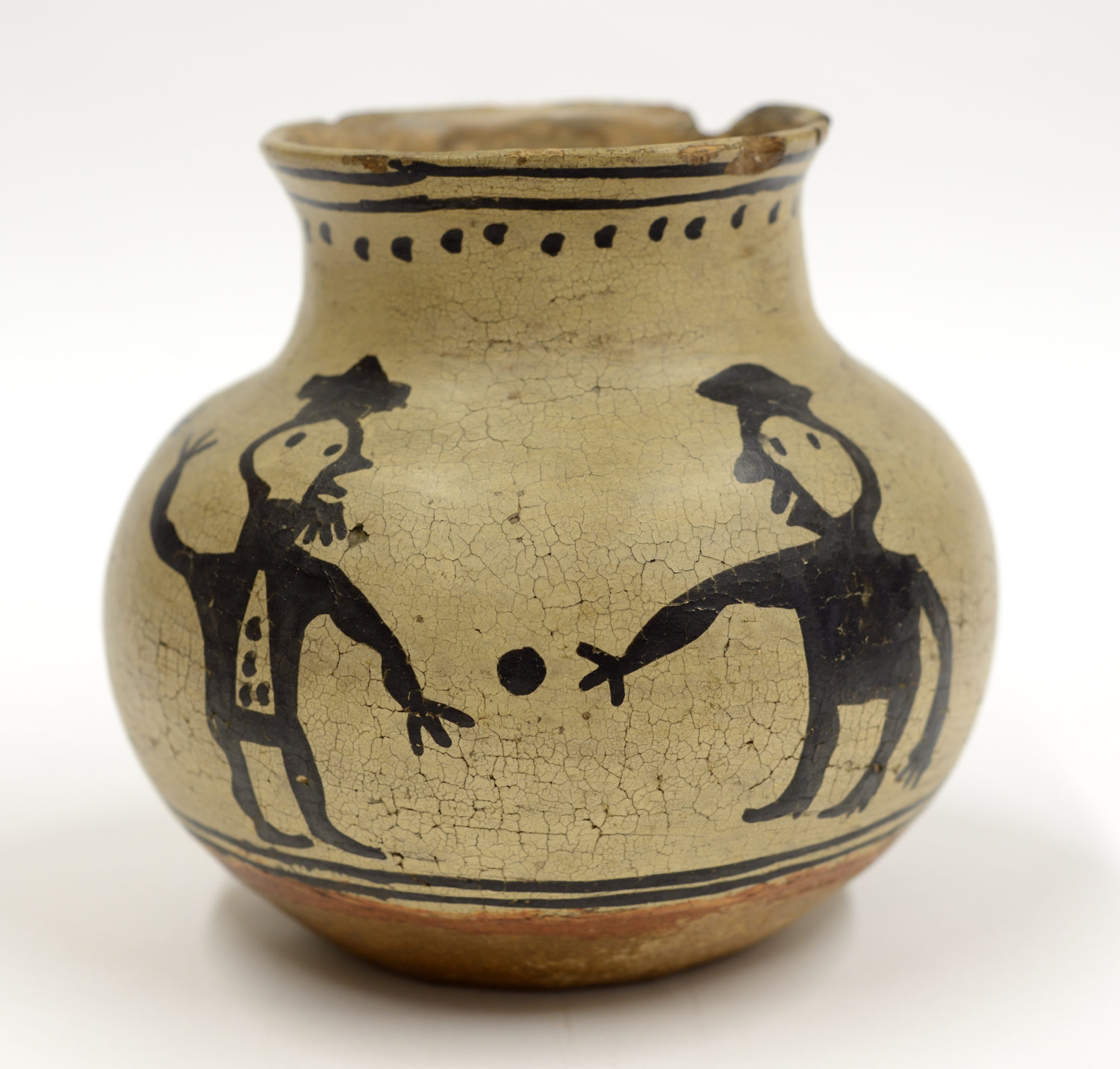 Tesuque Jar with Figures