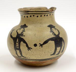 Tesuque Jar with Figures