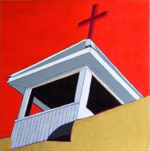 La Cruz Arriba de la Iglesia Perida de Cleveland, N.M.