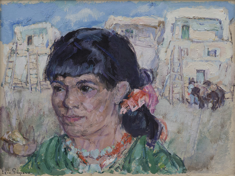 Woman at Taos Pueblo