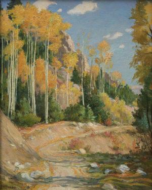Road Through Aspen Forest