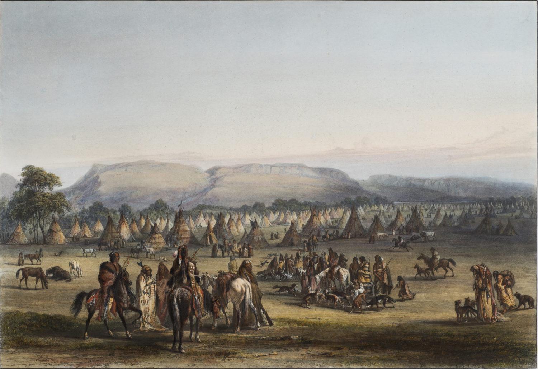 Encampment of the Piekann Indians