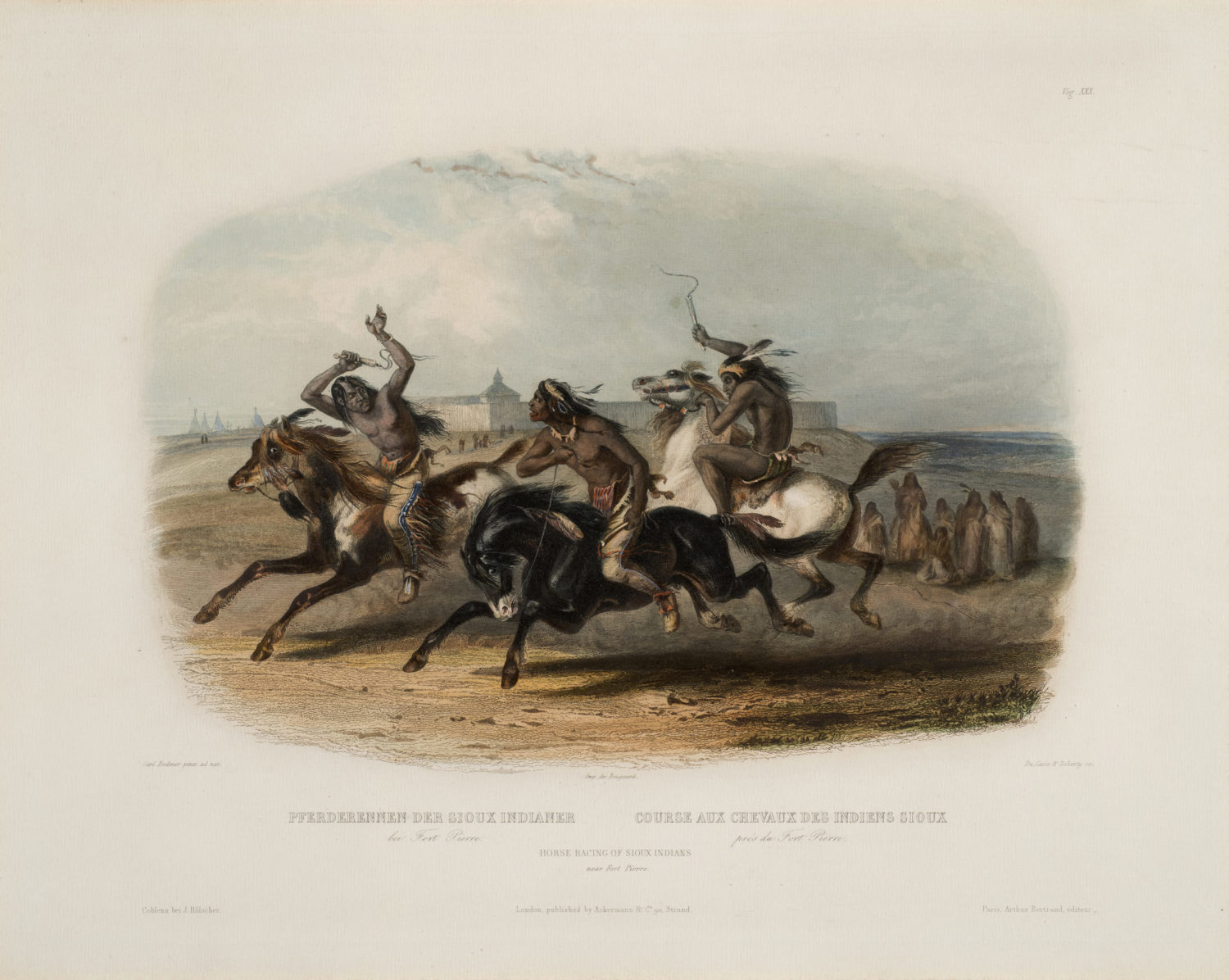 Horse Racing of Sioux Indians