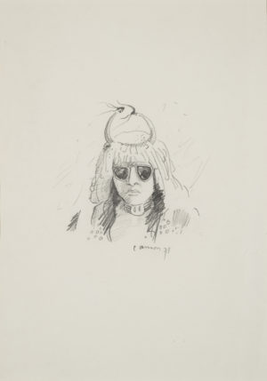 Head of Dancer with Sunglasses