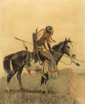 Indian Brave on Horseback