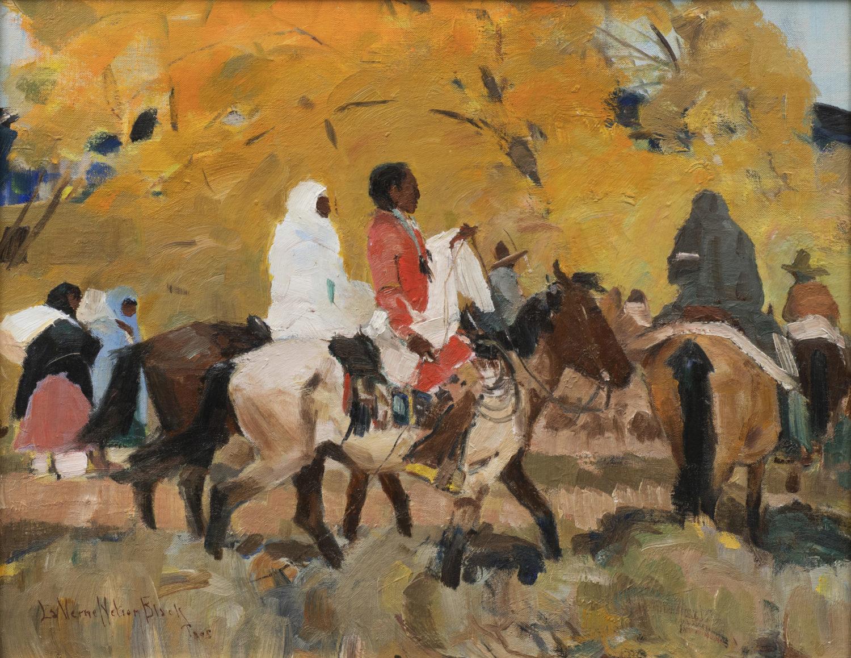 Riders Before Yellow Aspens