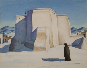 Ranchos Church with Figure