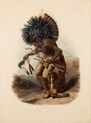 Pehriska-Ruhpa – Moennitarri Warrior in the Costume of the Dog Danse