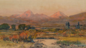 Sunrise Light – Mts. Guyot and Hamilton from the Valley of the Blue River