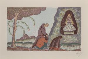 Monk Praying at Grotto